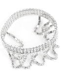 """ Heavenly "" 3 Row Stretch Bracelet with Draped Rhinestone Detail"