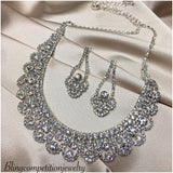 """ Beauty "" Clear Crystal Rhinestone Necklace Combo"