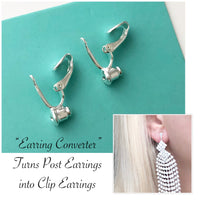""" Earring Converter "" Turns Post to Clip On Pair of 2"