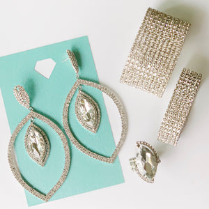 """ Bling Box Clear "" 4 Piece Stylist Set"