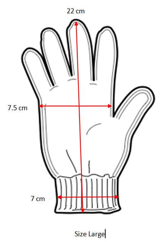 Large gloves size guide