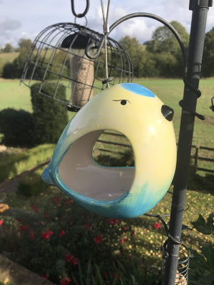 Wildlife World Ceramic Blue Tit Bird Feeder