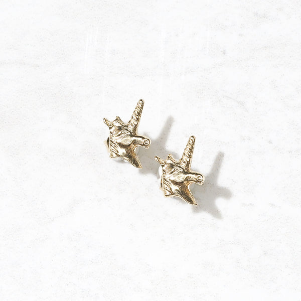Tiny Unicorn Studs