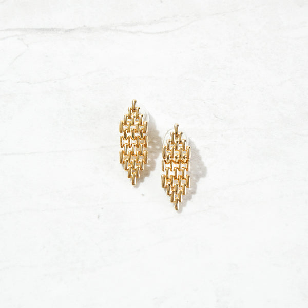 Gold Maille Studs
