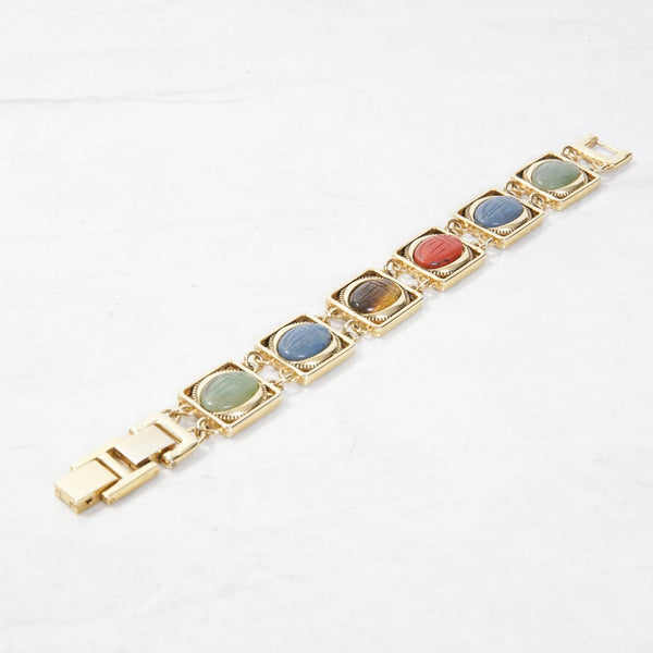 New Mermaid Vintage - 60's Unsigned Bracelets - Scarab - 1