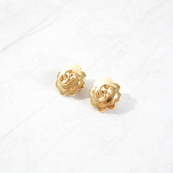 New Mermaid Vintage - 50's Chanel Earrings - Chanel Flower - 1