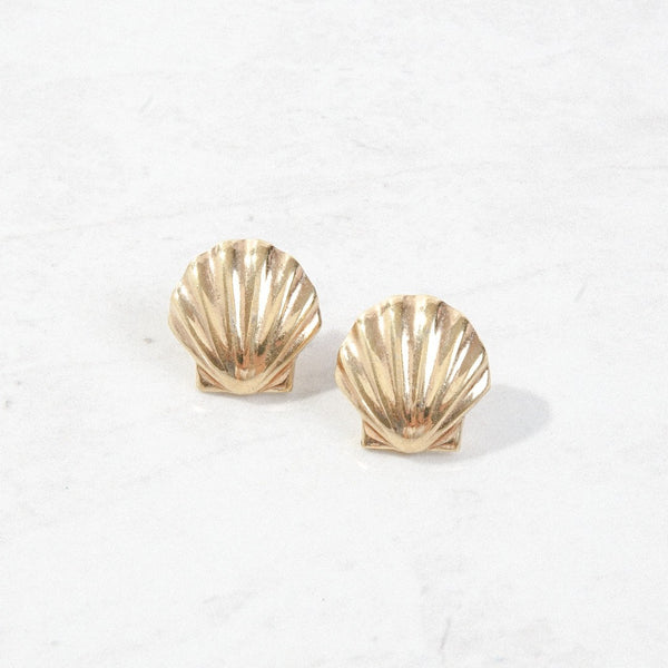 New Mermaid Vintage - 80's DNH Earrings - Classic Shell - 1