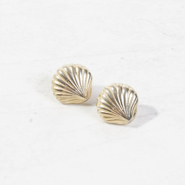 New Mermaid Vintage - 60's Dior Earrings - Dior Seashell Studs - 1