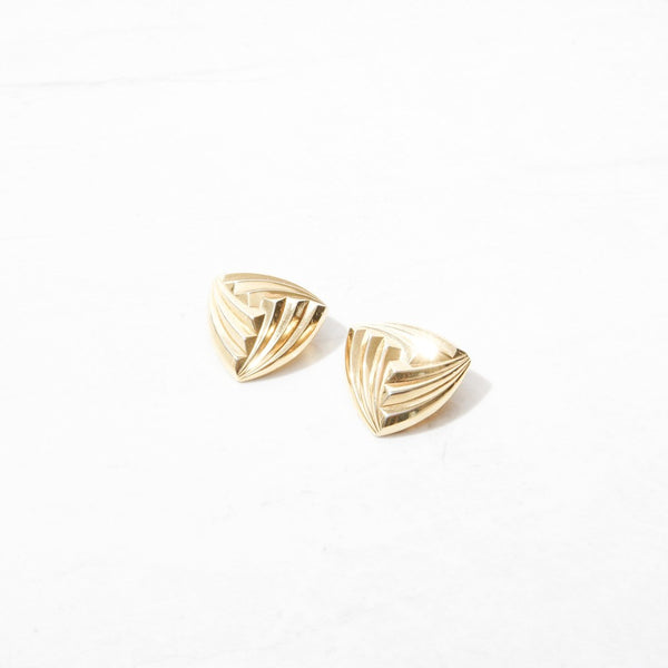 New Mermaid Vintage - 80's Dior Earrings - Dior Triangles - 1