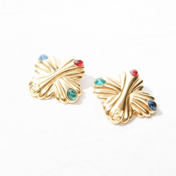 New Mermaid Vintage - 80's Fendi Earrings - Fendi Renaissance - 1
