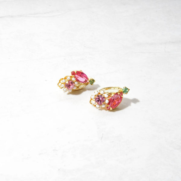 New Mermaid Vintage - 50's Juliana D&E Earrings - Flowergirl - 1