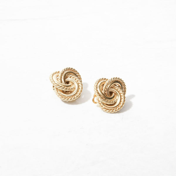 New Mermaid Vintage - 80's Givenchy Earrings - Givenchy Knotted - 1