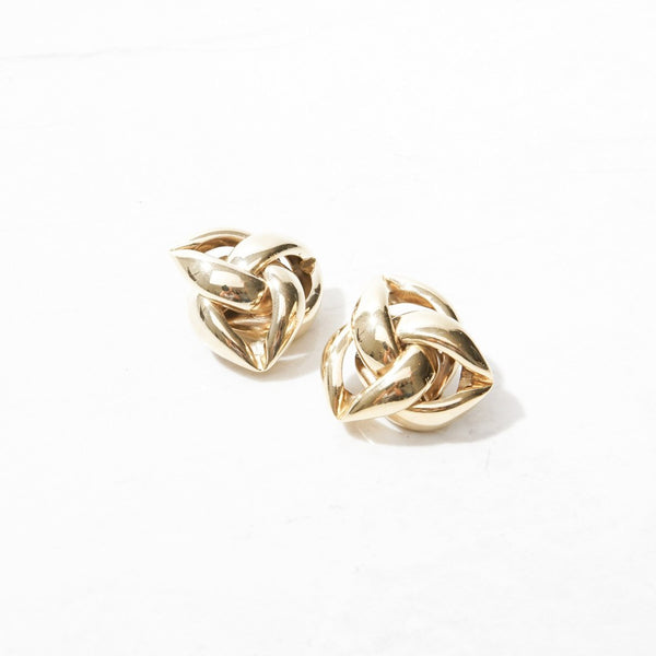 New Mermaid Vintage - 80's Givenchy Earrings - Givenchy Triangle Knot - 1