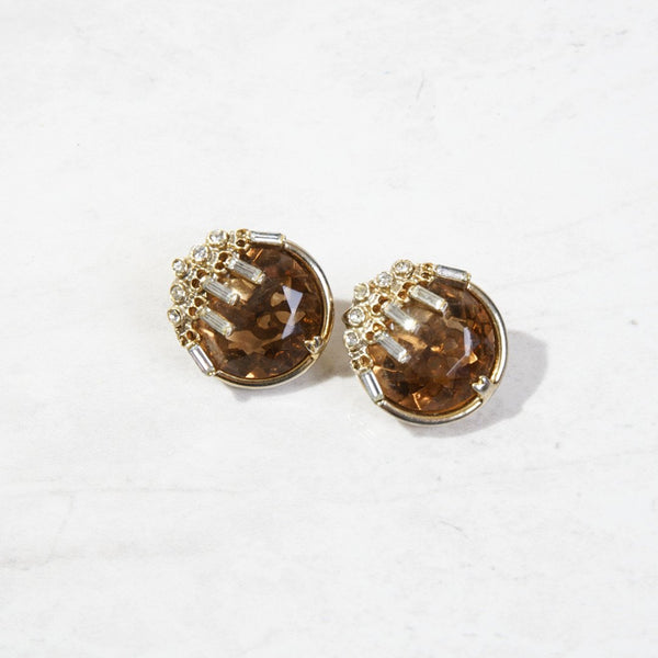 New Mermaid Vintage - 60's Bellini Earrings - Whiskey - 1