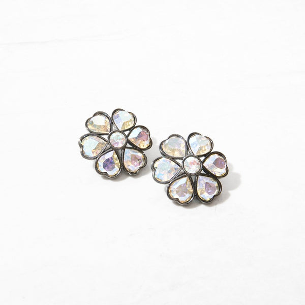 New Mermaid Vintage - 90's YSL Earrings - YSL Iridescent Flowers - 1