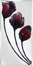 Load image into Gallery viewer, Three Stem Red Tulip Liquid Glass Art Mirror