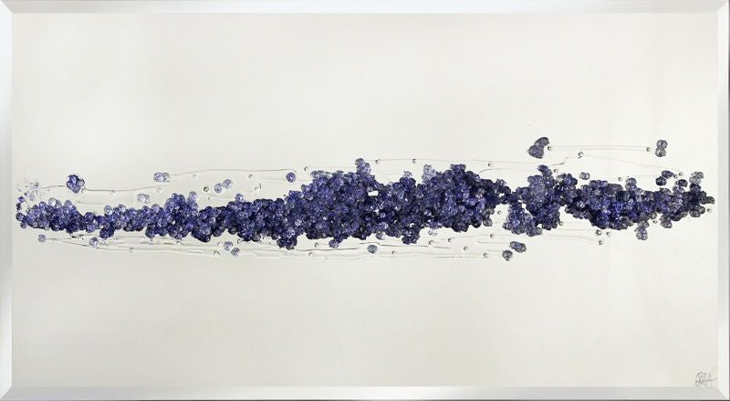 Purple Glitter Cluster Liquid Glass Wall Art