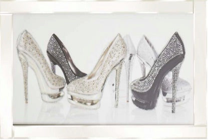 6 Glitter shoes on White Frame