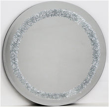 Load image into Gallery viewer, Silver Cluster Border Round Liquid Glass Art Mirror