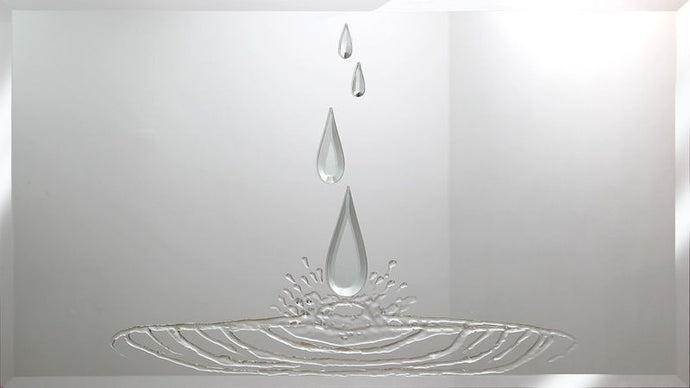 Teardrops Liquid Glass Art Mirror