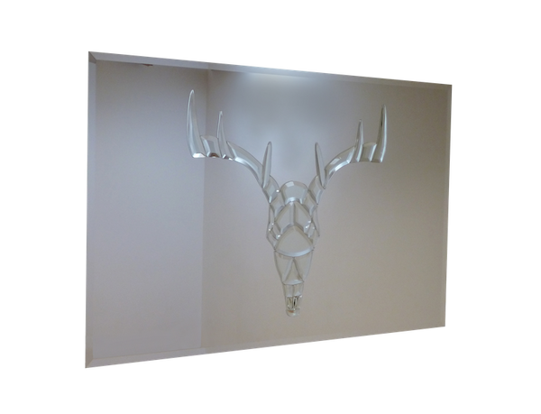 Stags Head Liquid Glass Art Mirror