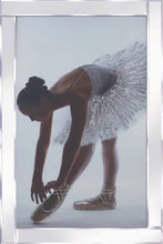 Load image into Gallery viewer, Ballerina Liquid Glass Wall Art Picture With Mirror Frame