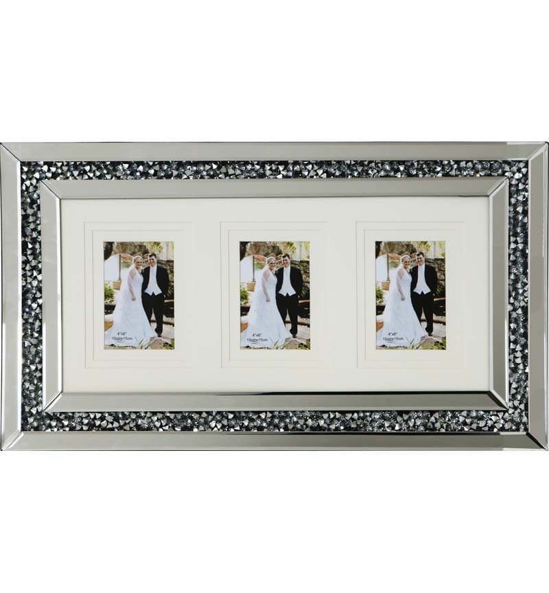 Gatsby photo frame filled with crushed diamond like crystals