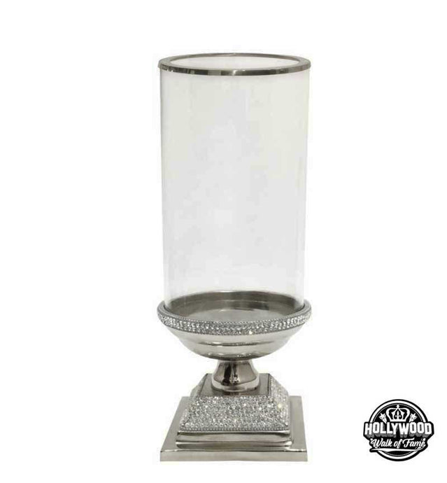 The Hollywood Walk of Fame Silver Crystal Candle Holder
