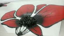 Load image into Gallery viewer, Red Poppies Liquid Glass Wall Art On A Mirror