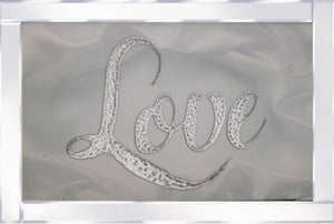 Love on Mirrored Frame