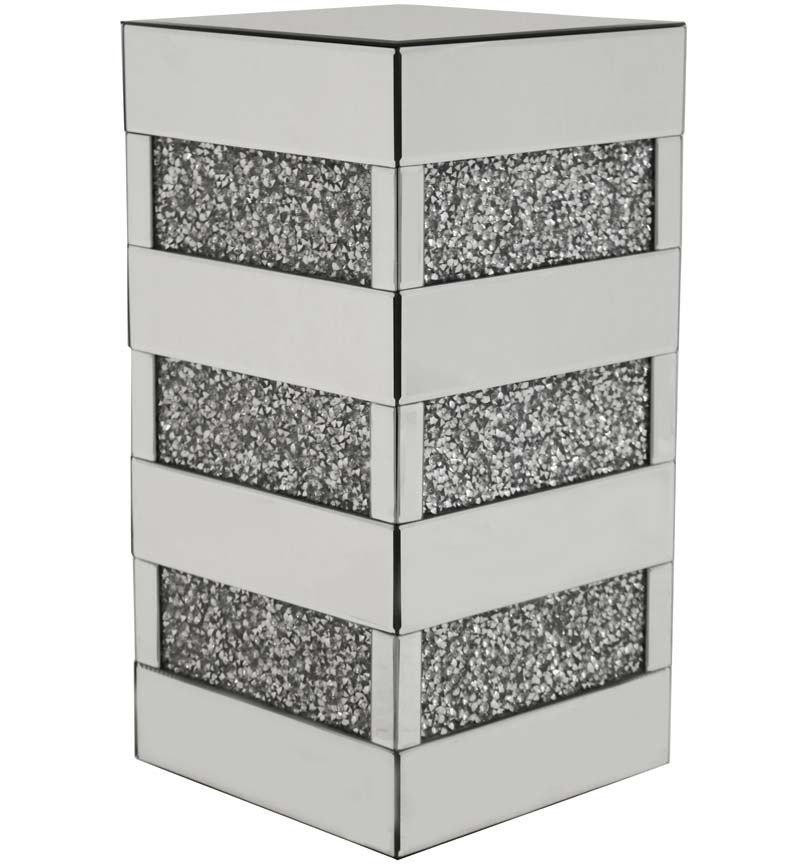 Gatsby Mirrored Crystal Side Table