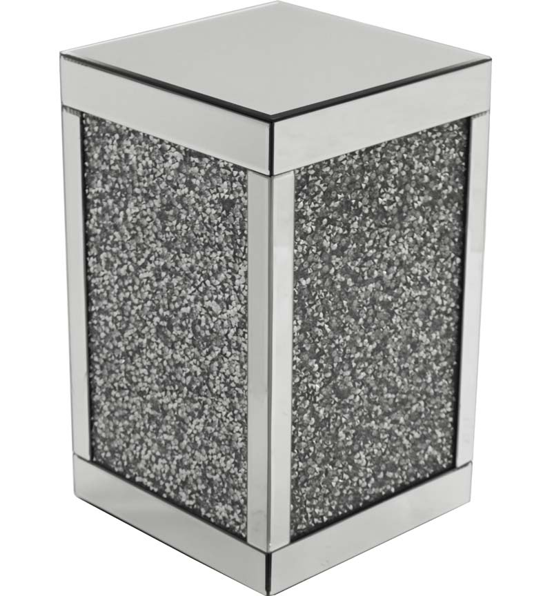 Gatsby Cube Silver Crystal Side table
