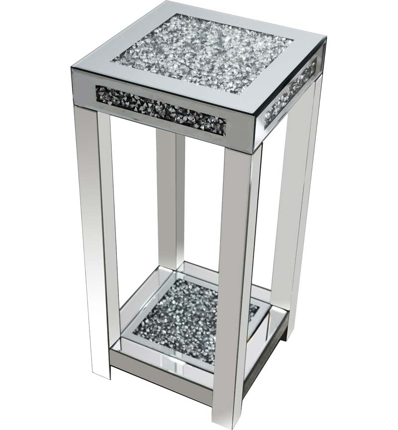 Gatsby Crystal Mirrored Glass Side Table