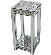 Load image into Gallery viewer, Gatsby Crystal & Mirrored Glass Sunburst Side Table