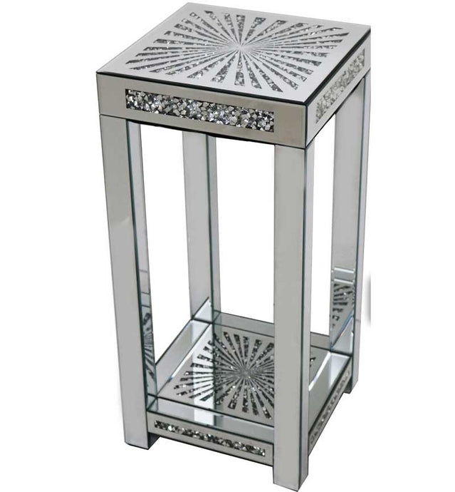 Gatsby Crystal & Mirrored Glass Sunburst Side Table