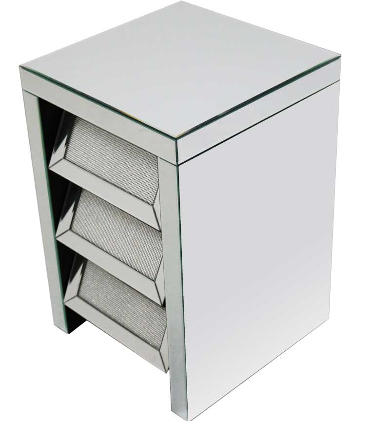 Glamour 3 Drawer Chest Silver