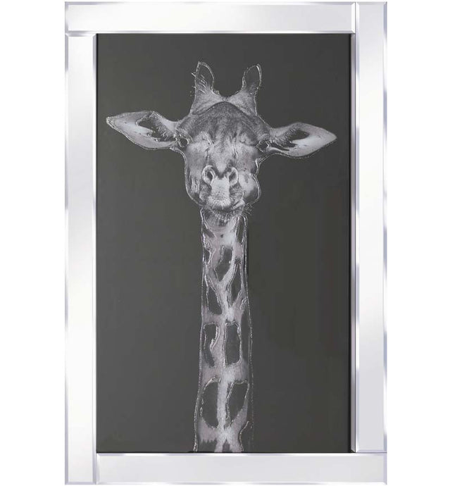 Giraffe Mirrored Frame Wall Art