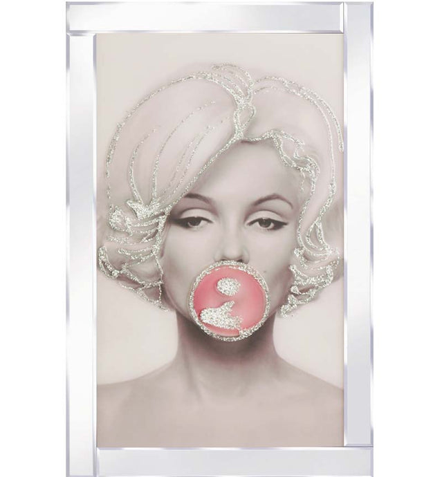 Marilyn bubble on Mirrored Frame