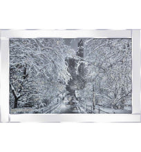 Load image into Gallery viewer, Snowy Gapstow Bridge on Mirrored Frame