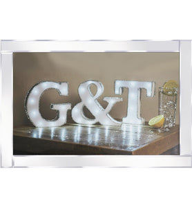 G&T Mirrored Frame Wall Art