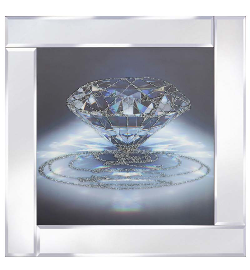 Single Diamond on Mirrored Frame