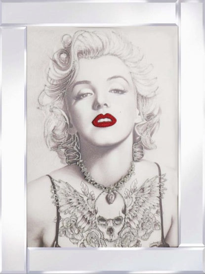 Marilyn Monroe on Mirrored Frame