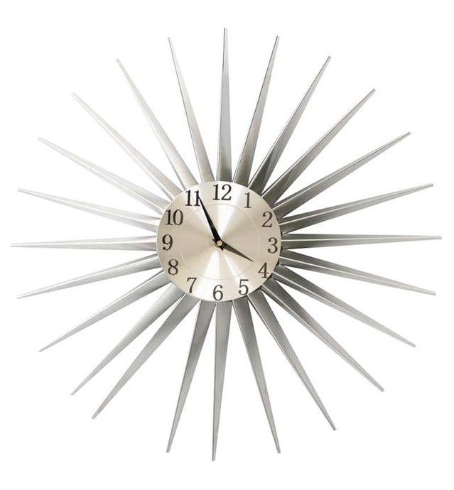 Silver Metal Sunshine Clock