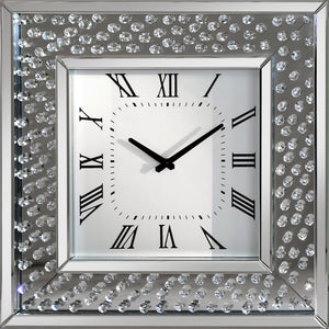 Rhombus Diamante Crystal Square Clock