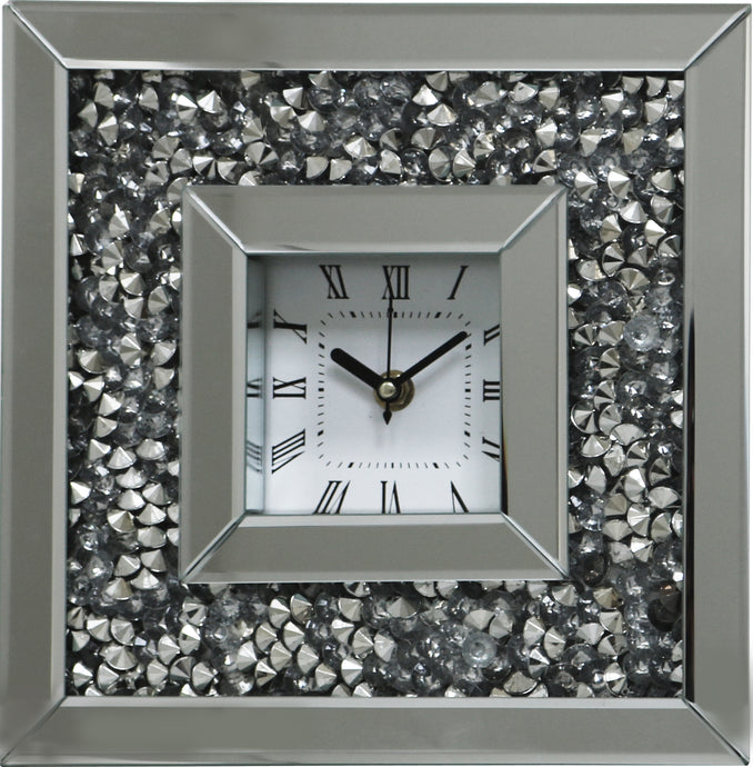 Gatsby Crystal  Mirrored table Clock