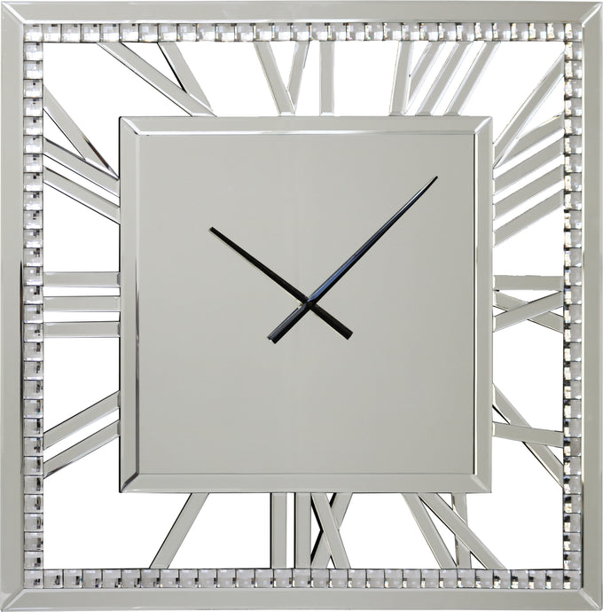 Mirrored Crystal Clock