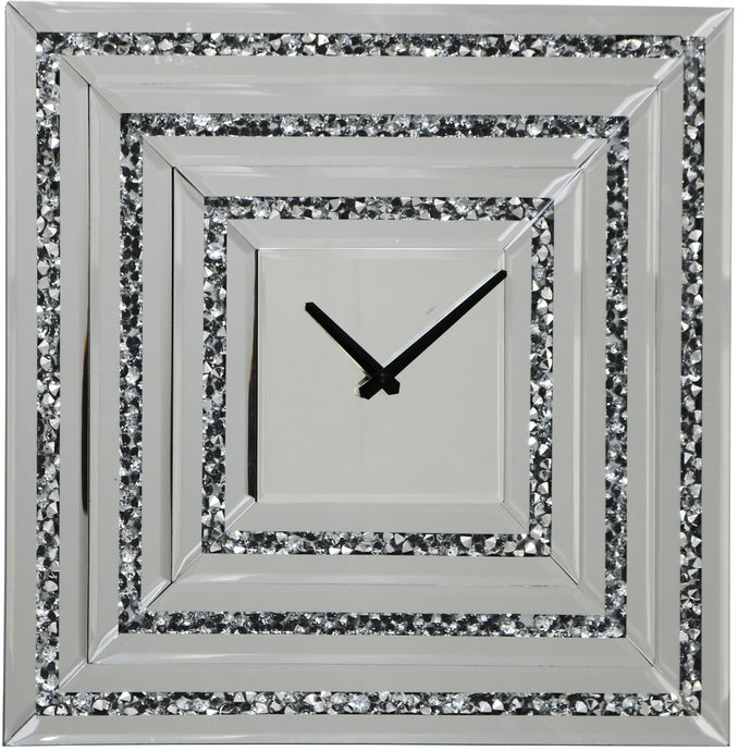 Mirrored Layered Square Clock