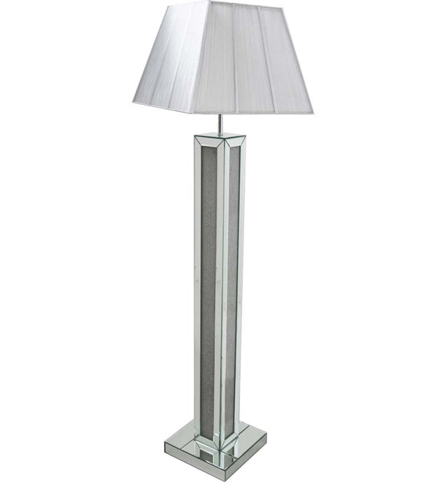 Mirrored Glamour Floor Lamp