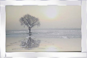 Tree By The Sea with Mirrored Frame