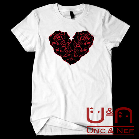 Unc & Nef - Heart of Roses I - Premium -  Women's T-Shirt
